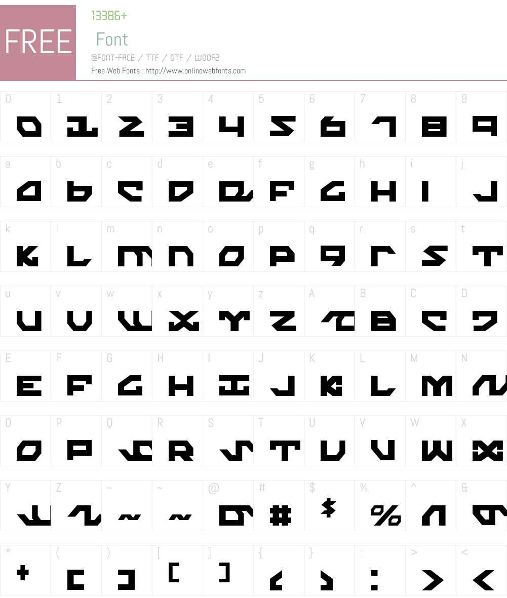 Nightrunner Condensed Font Screenshots