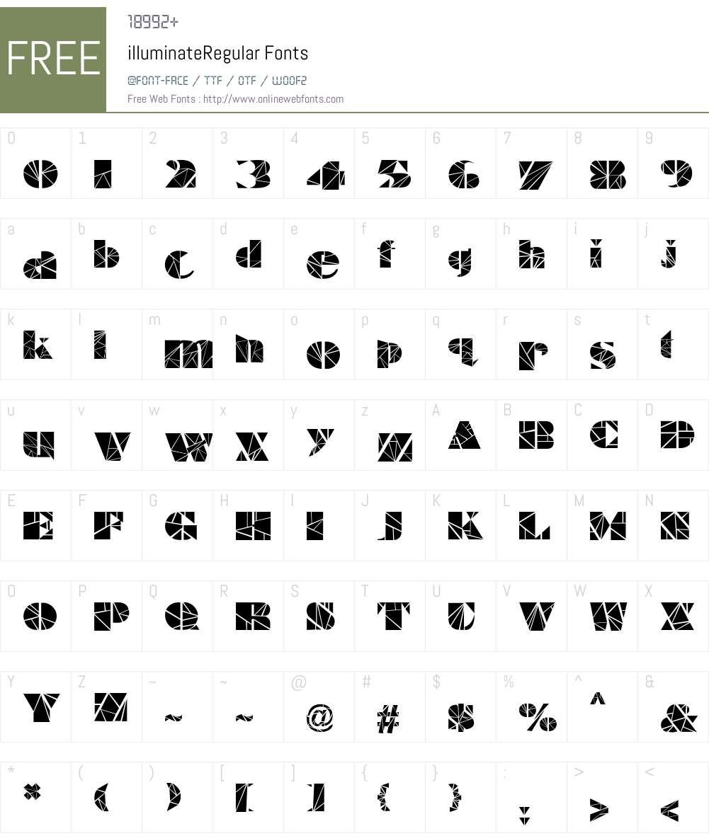 illuminate Font Screenshots