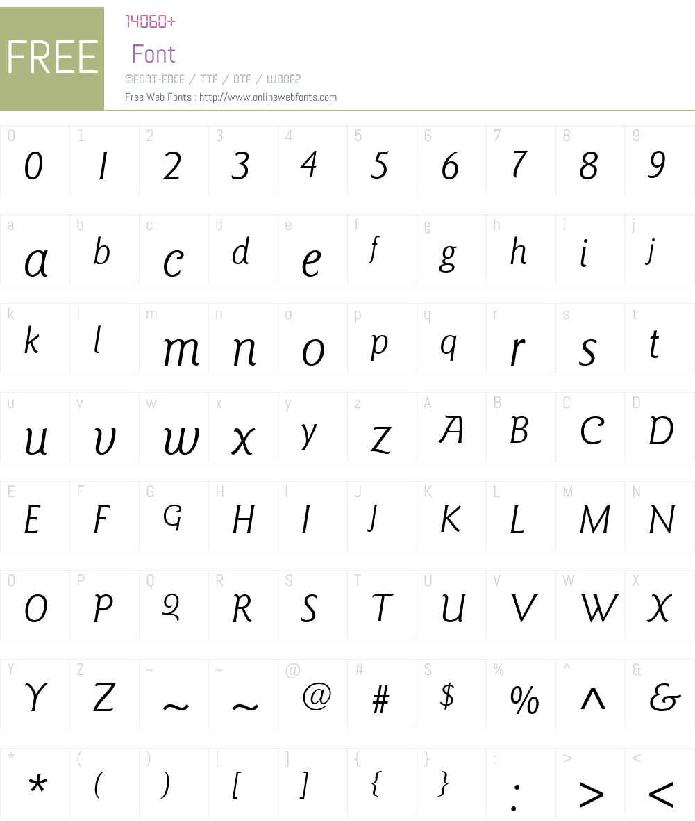 ITCGoudySansW01-BookItalic Font Screenshots