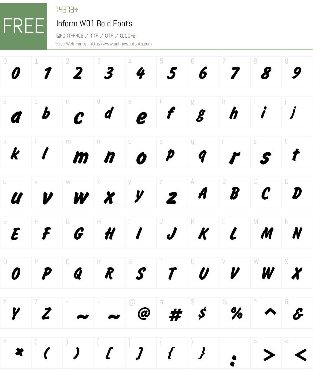 InformW01-Bold Font Screenshots