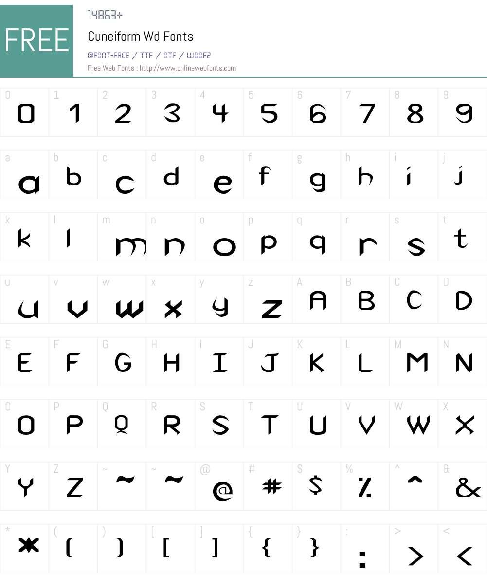 Cuneiform Wd Font Screenshots