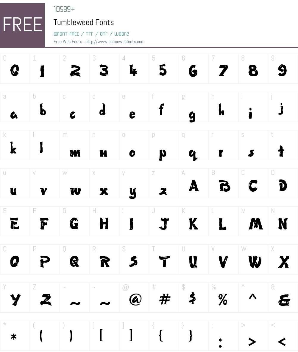 Tumbleweed Font Screenshots