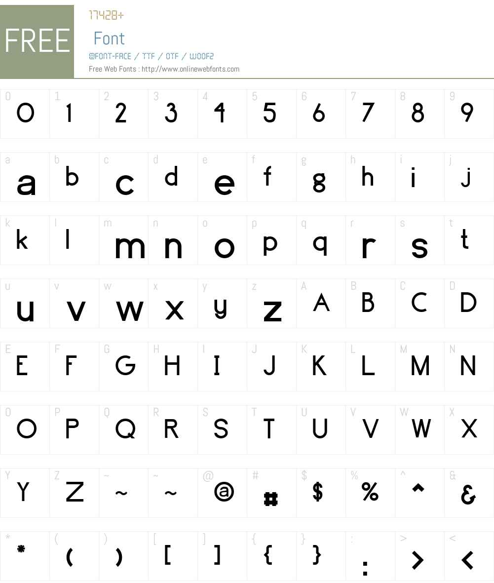 Brassfield Font Screenshots