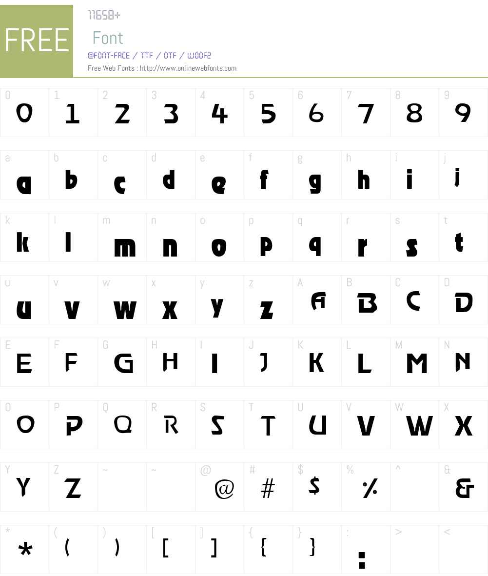RoostLight Font Screenshots