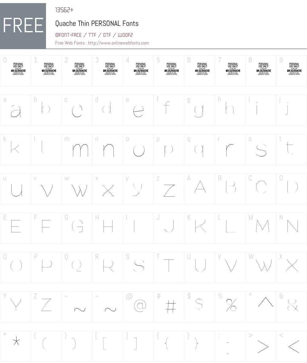 Quache Font Screenshots