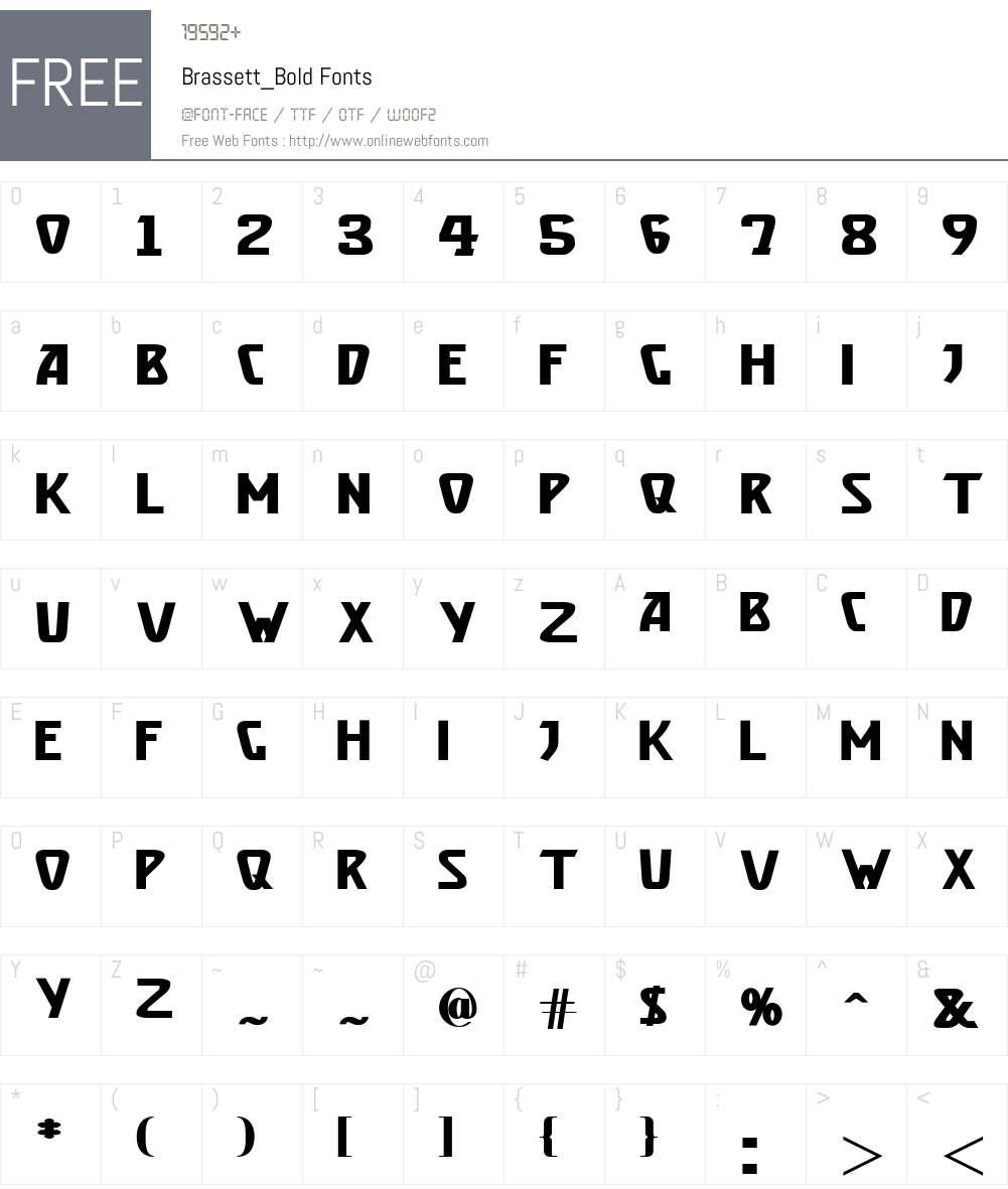 Brassett_Bold Font Screenshots