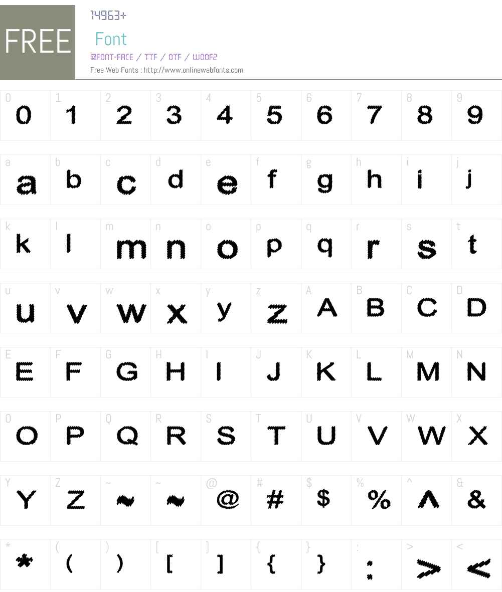 Cylonic Crossdraft Font Screenshots
