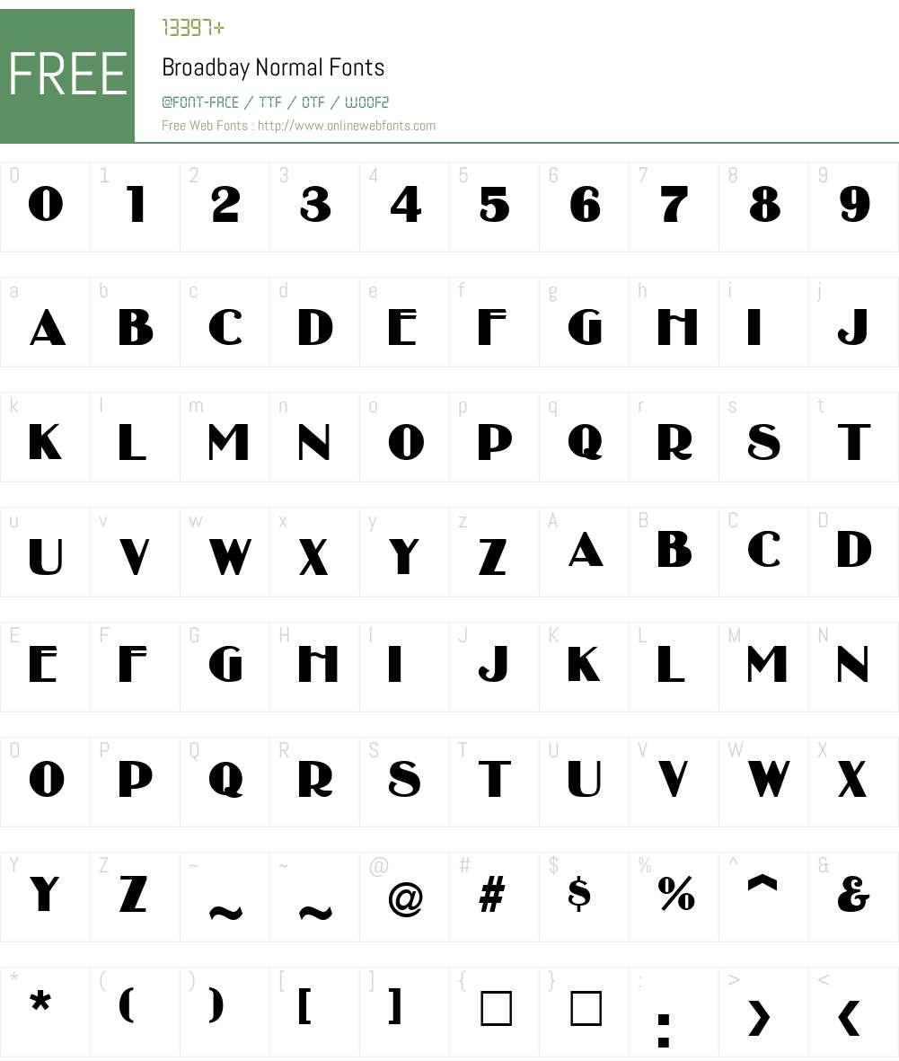Broadbay Font Screenshots