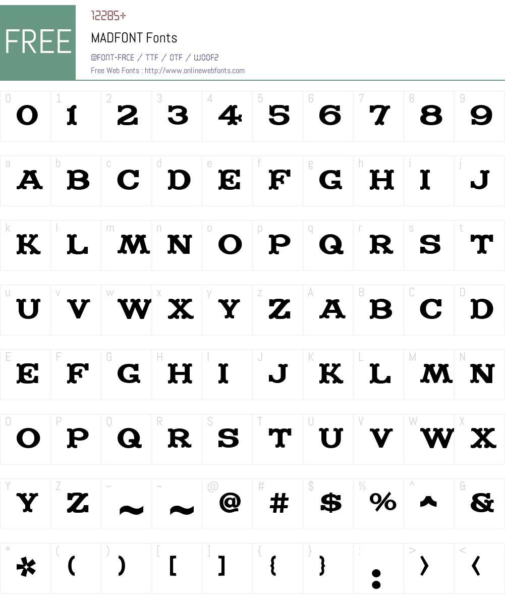 MADFONT Font Screenshots