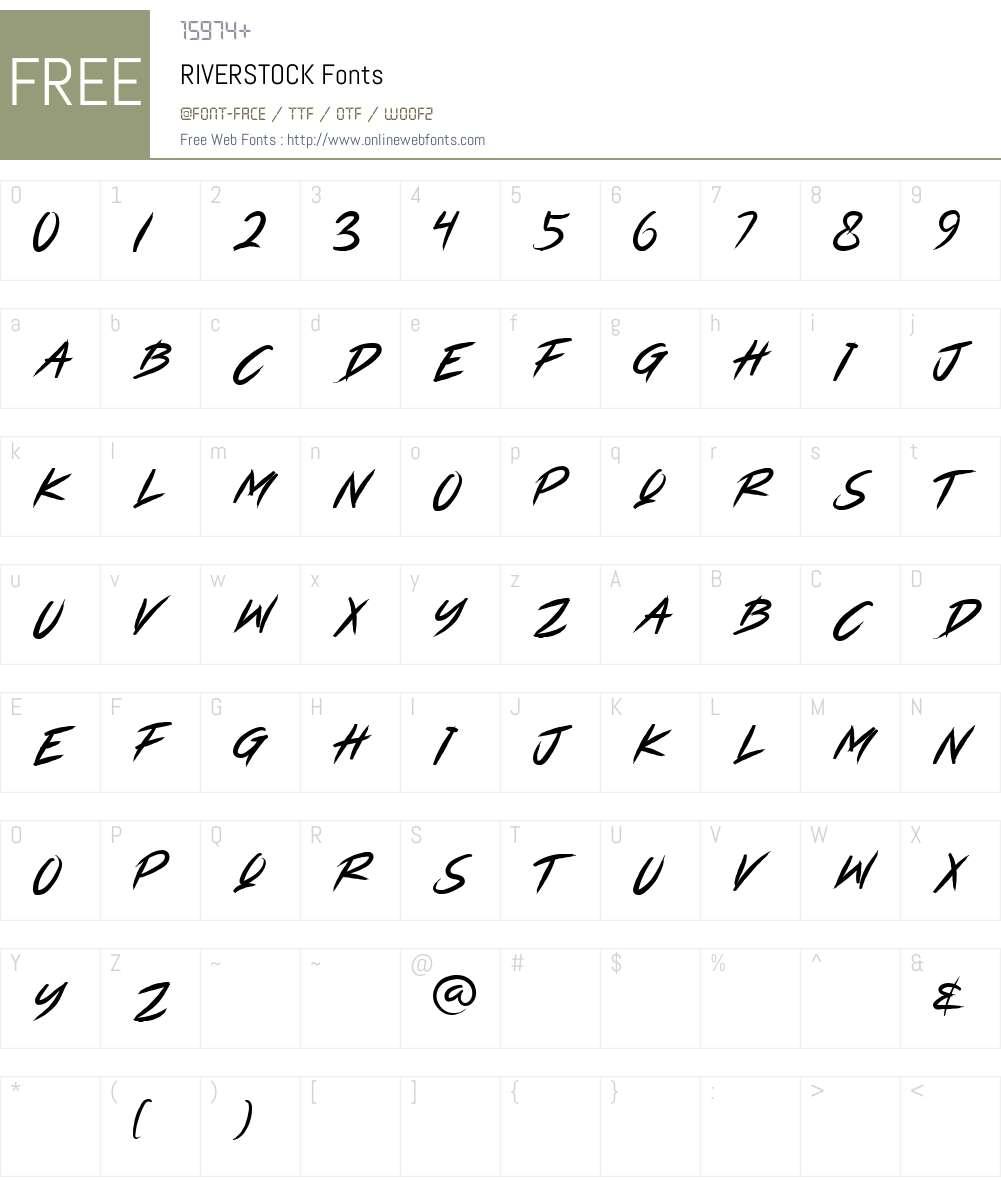 RIVERSTOCK Font Screenshots