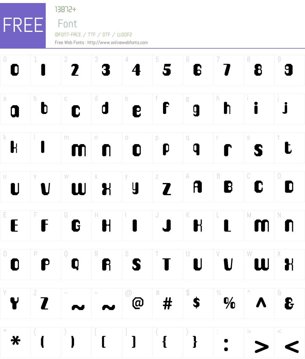 CigarW00-Octo Font Screenshots