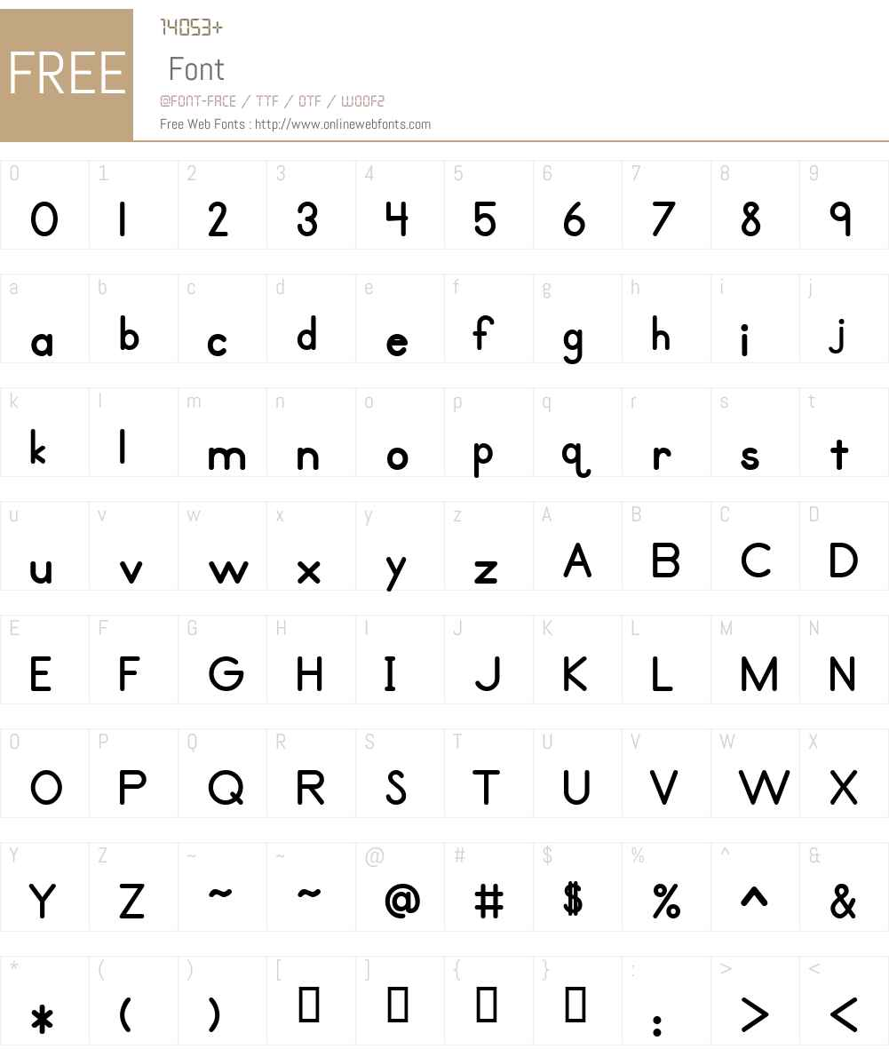 Primer Print Font Screenshots