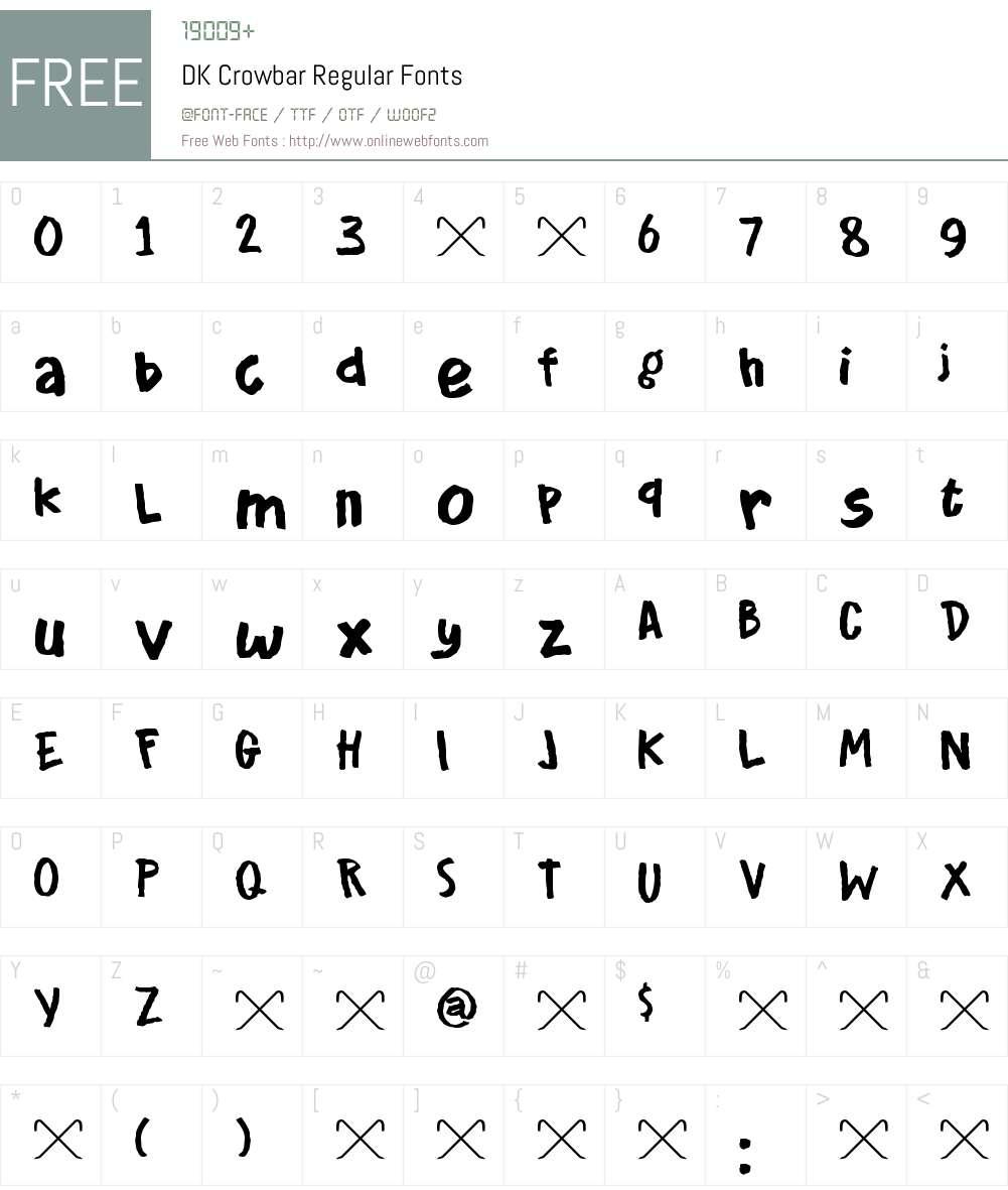 DK Crowbar Font Screenshots