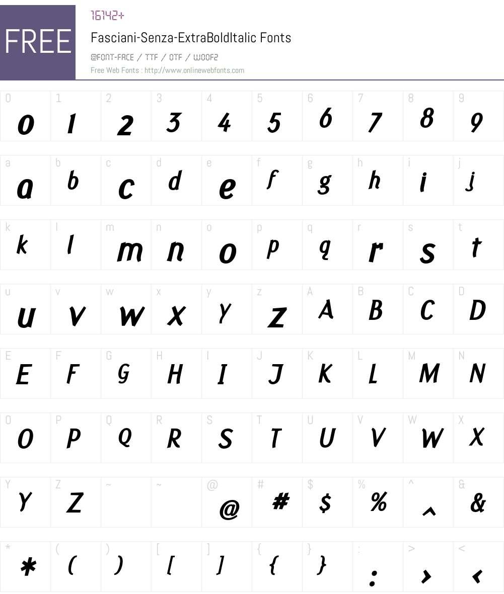 Fasciani-Senza Font Screenshots