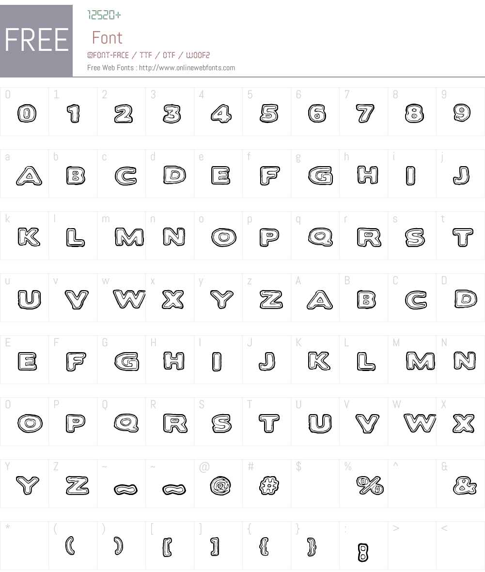 Bakesaurus Font Screenshots