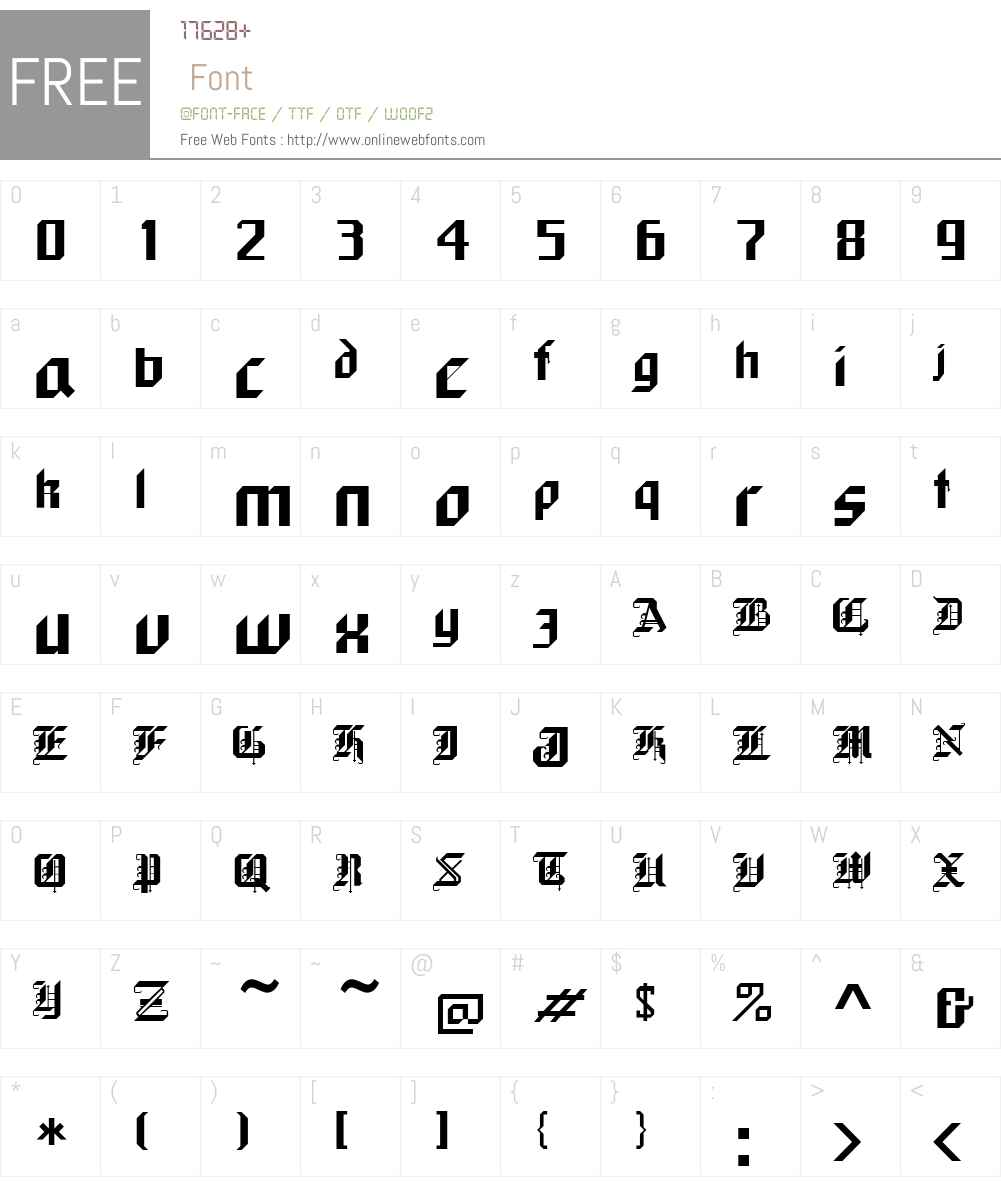 Black Forest Font Screenshots