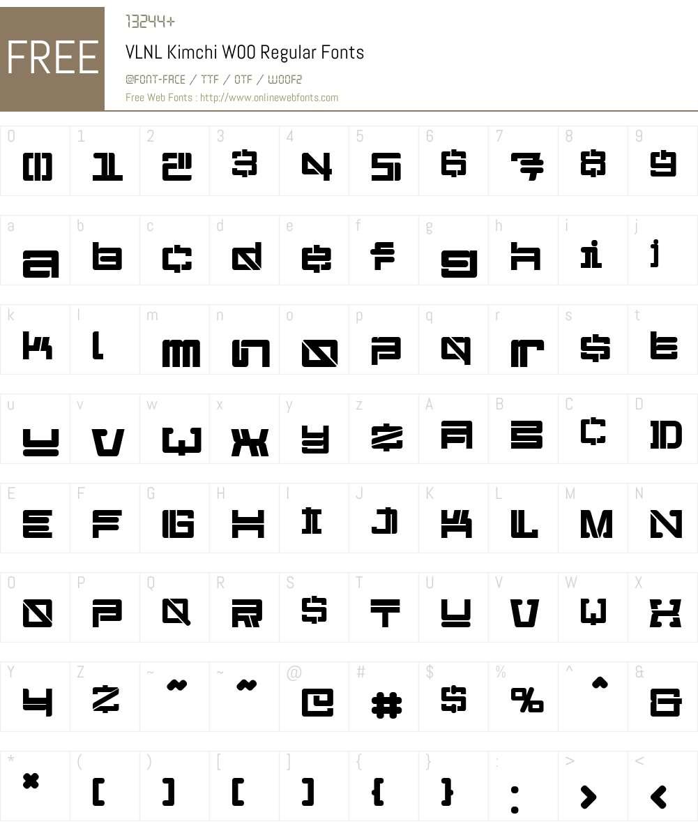 VLNL Kimchi Font Screenshots