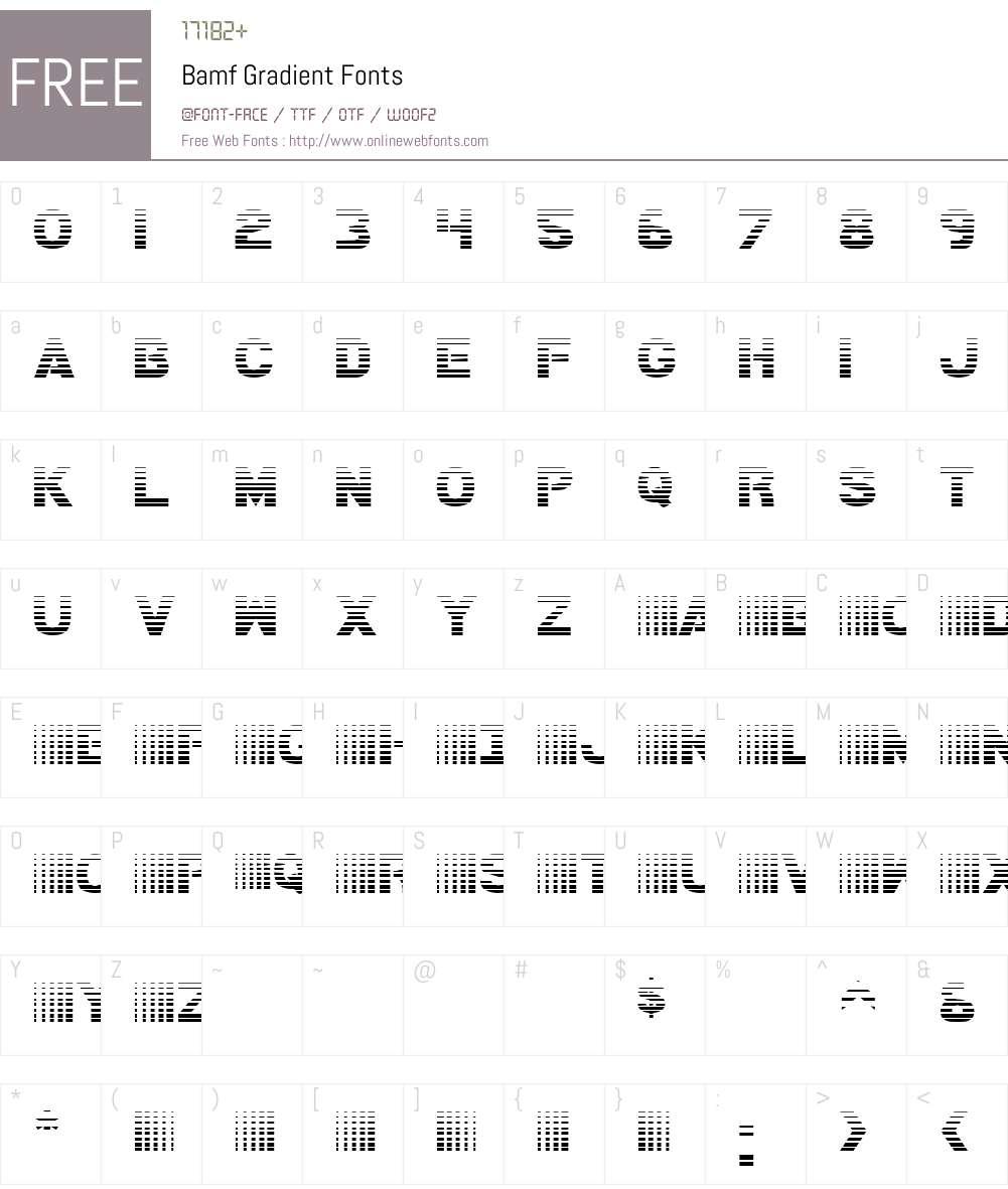 Bamf Gradient Font Screenshots