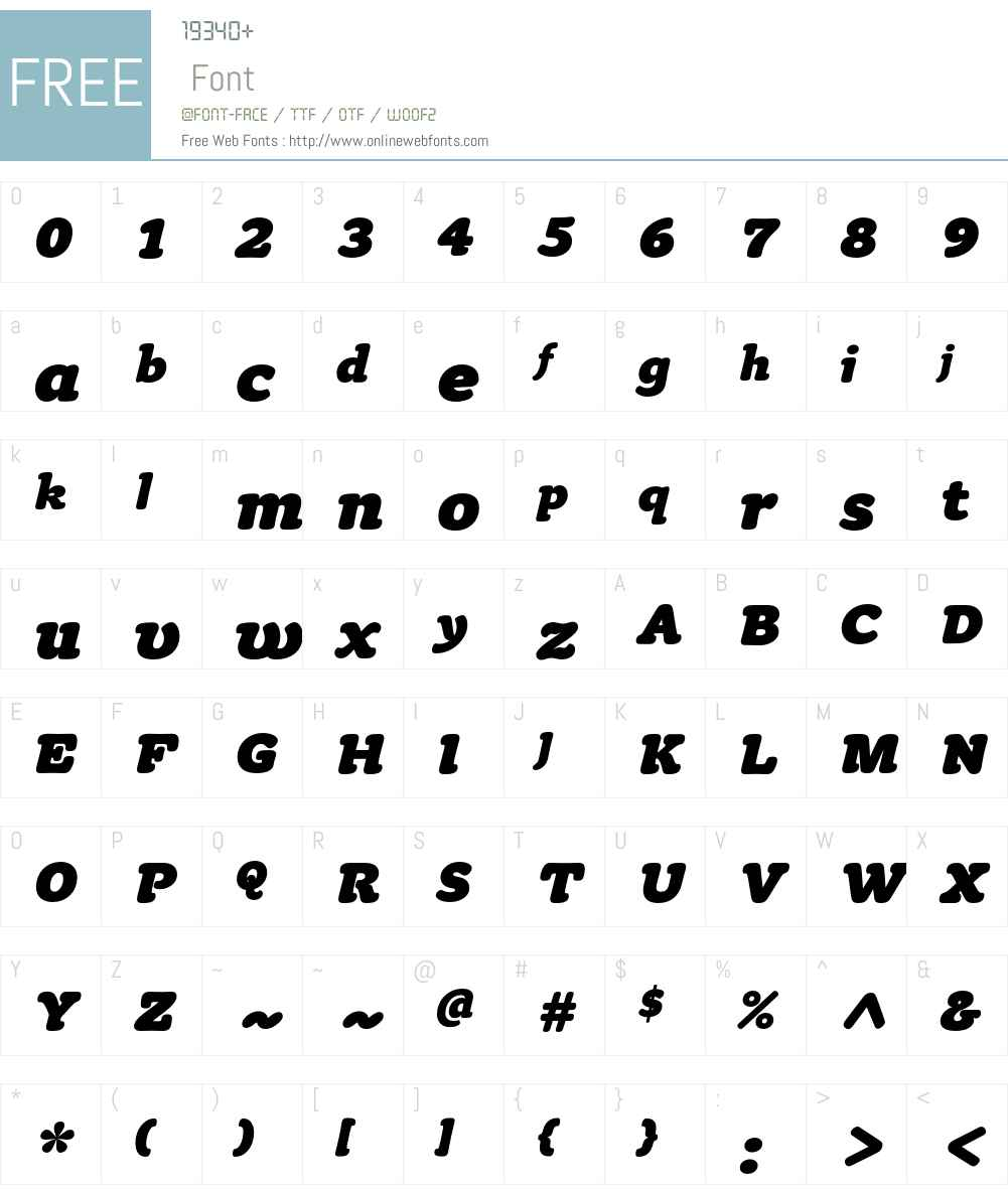 Tyke ITC Std Font Screenshots
