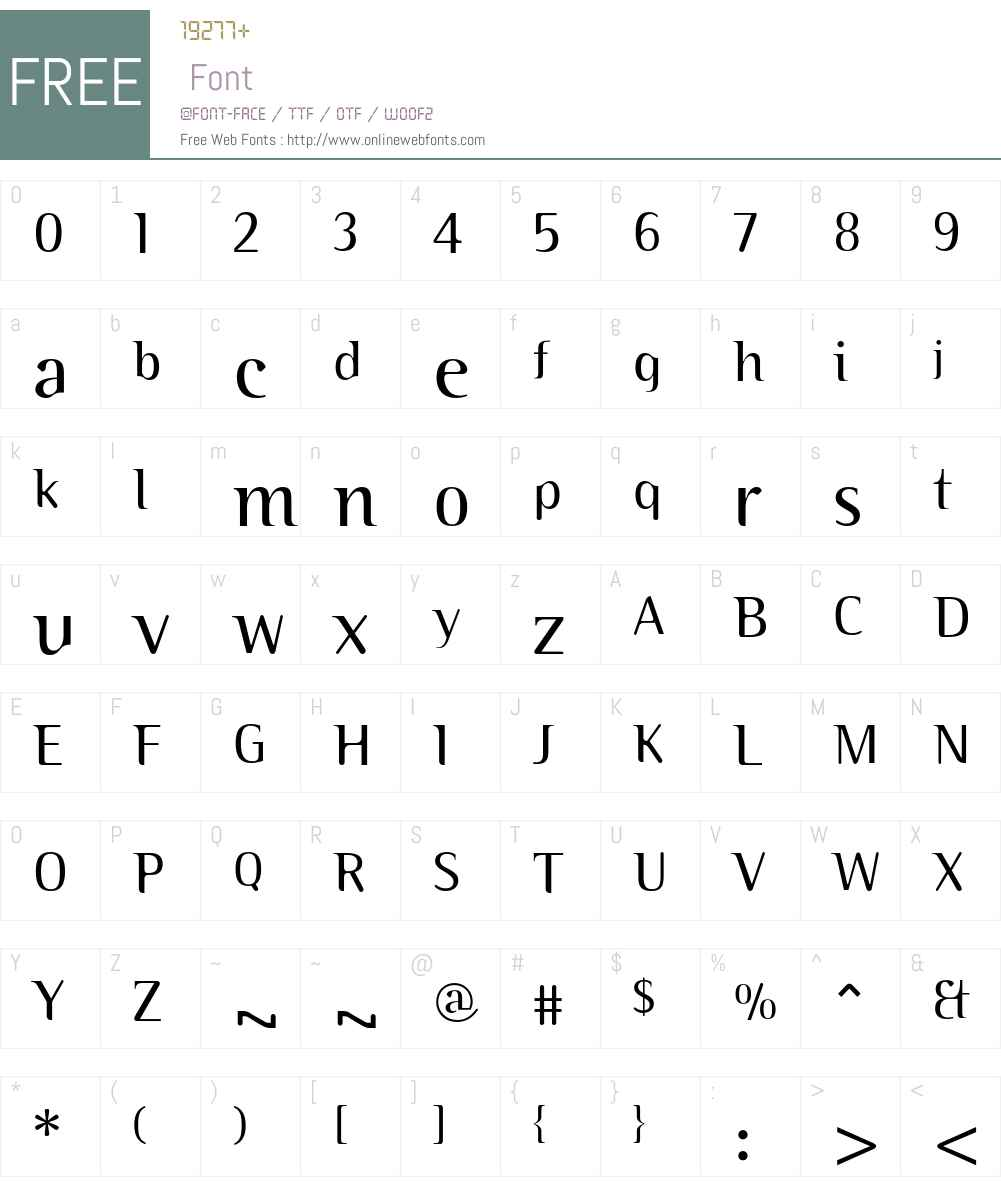 Binary ITC Font Screenshots