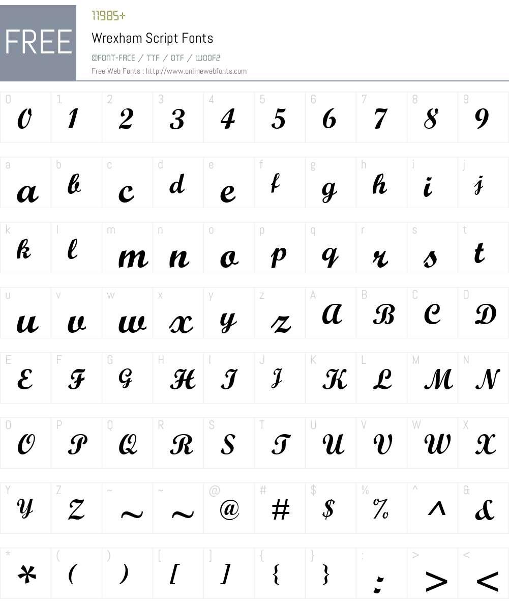 Wrexham Script Font Screenshots