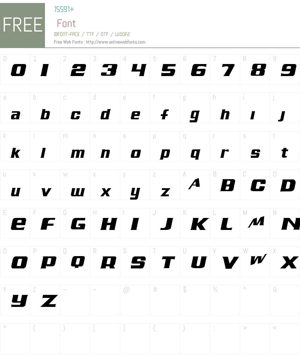 Air Millhouse  Italic Font Screenshots