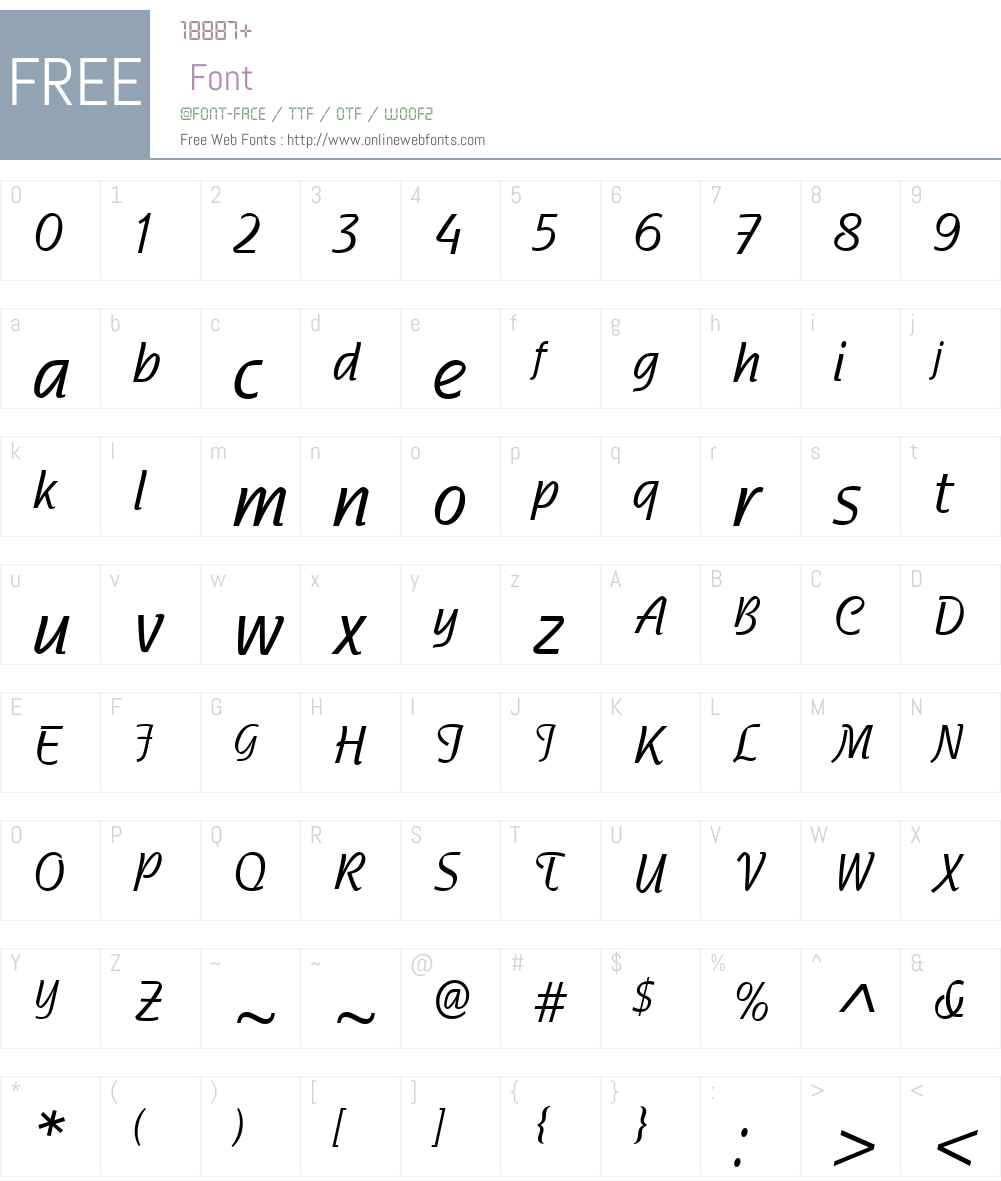 NadianneCondW01-Medium Font Screenshots