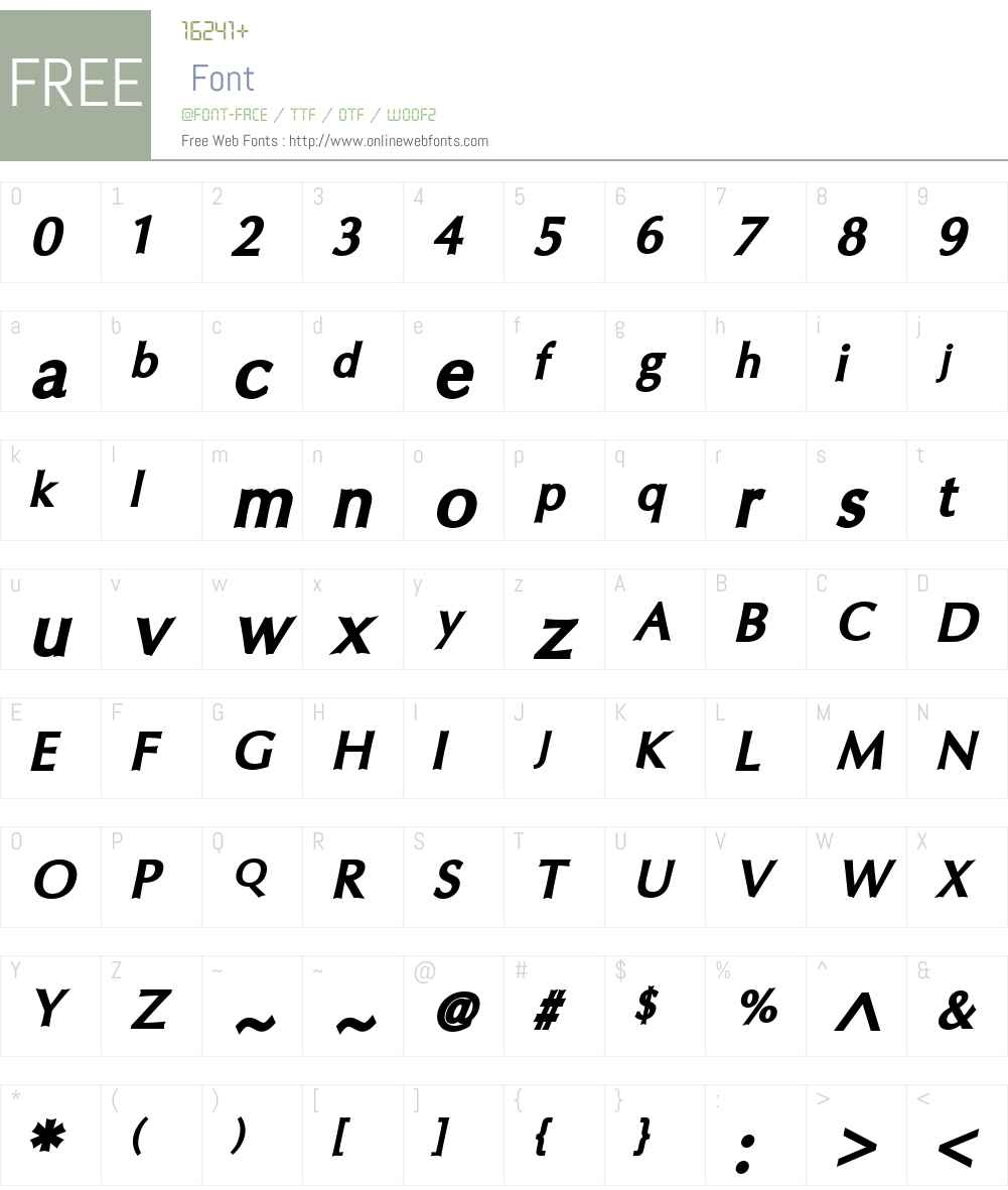 Oregon LDO Font Screenshots