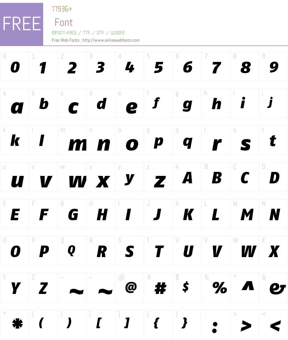 FagoNoLf Font Screenshots