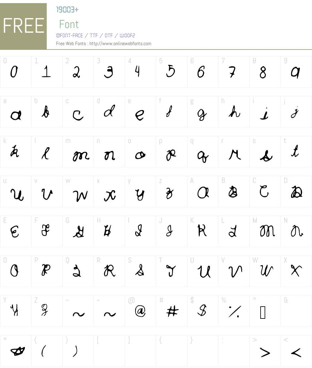 Curlytint_Font Font Screenshots