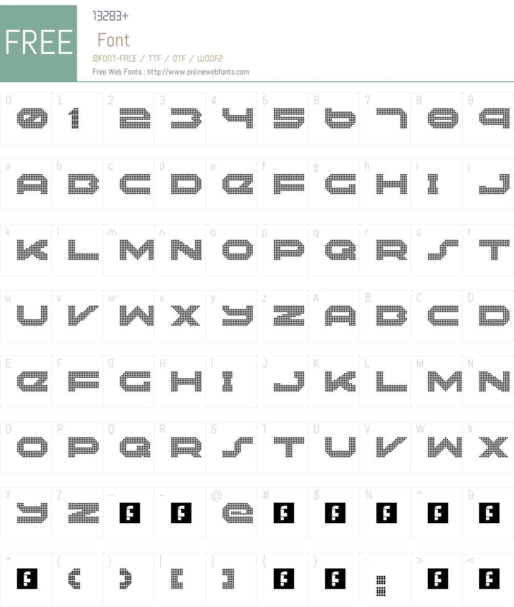 Neonize Font Screenshots