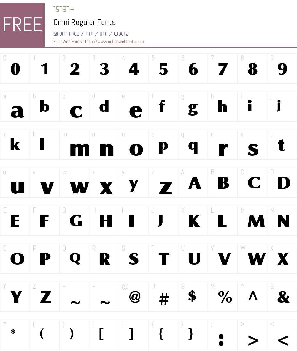 Omni Font Screenshots