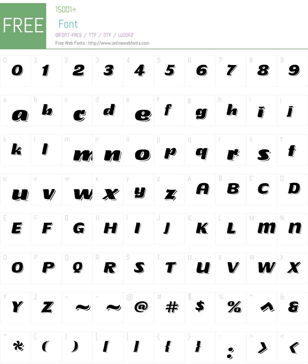 Tabarnouche Font Screenshots