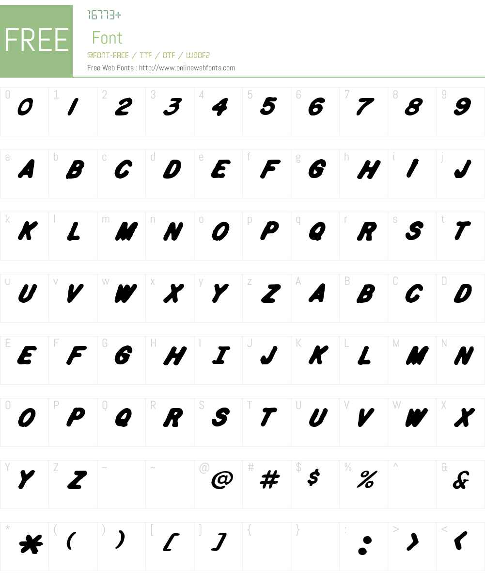 Spa Fon! Font Screenshots