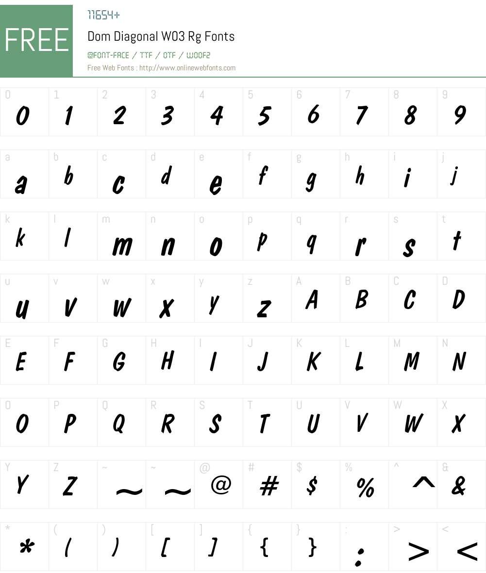 Dom Diagonal Font Screenshots