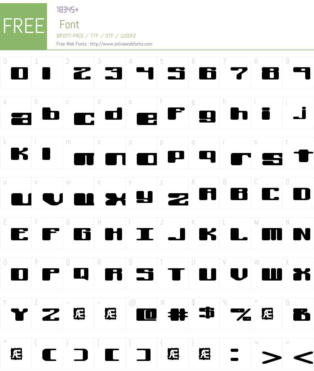 Off Kilter L BRK Font Screenshots