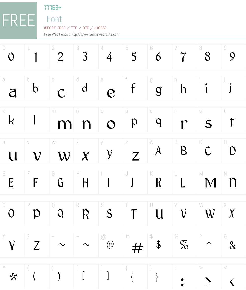 Vatikan Font Screenshots