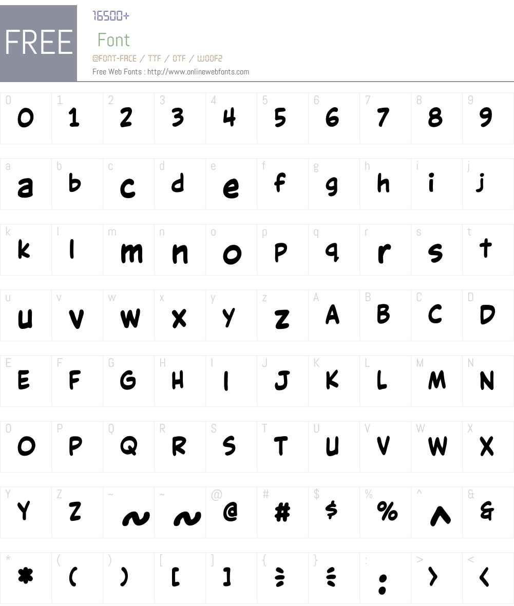 CCVictorySpeechLower-Bold Font Screenshots