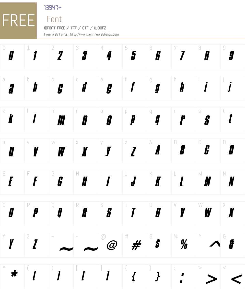Commador Heavy Font Screenshots