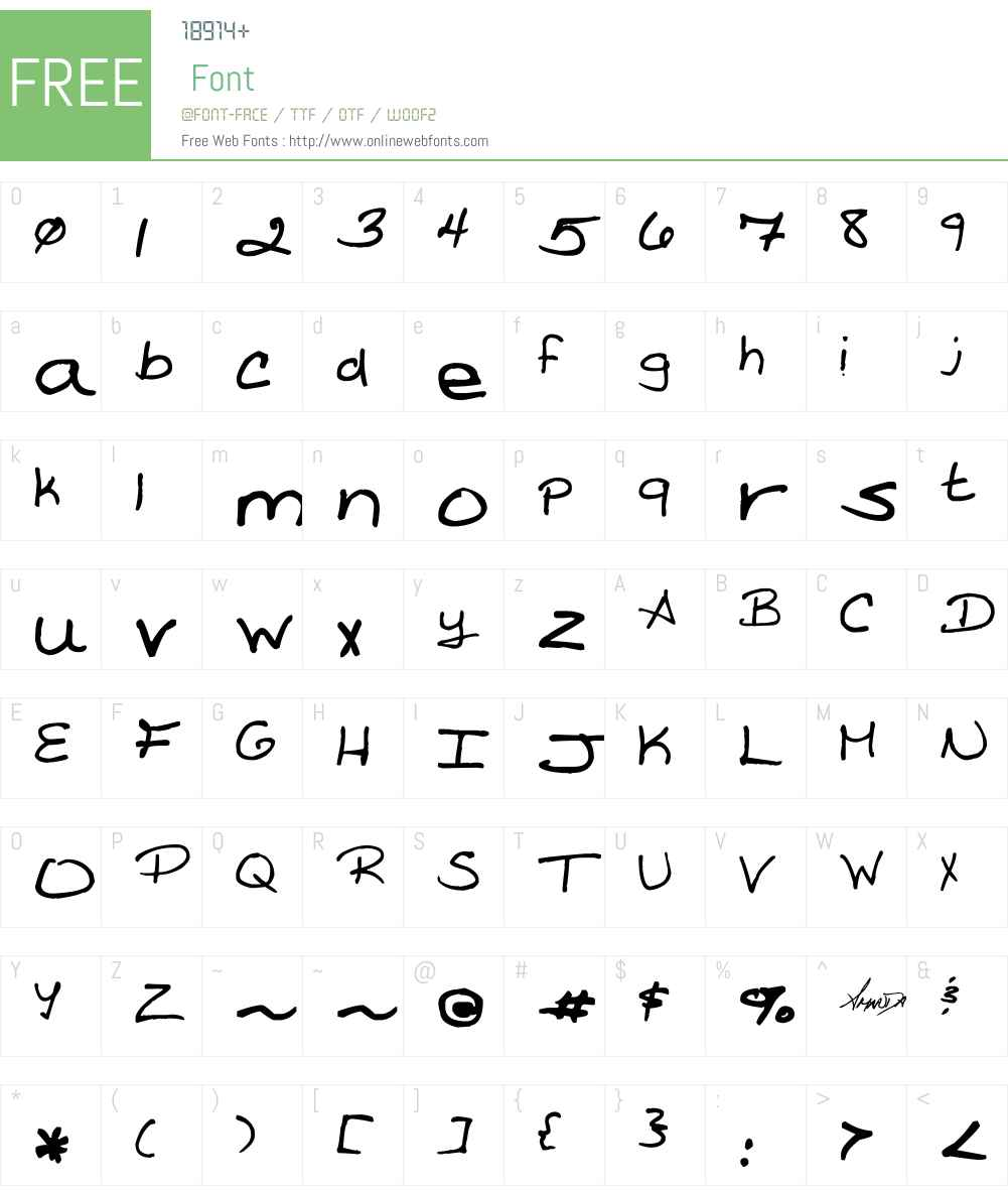 Amanda Reed's Font Font Screenshots