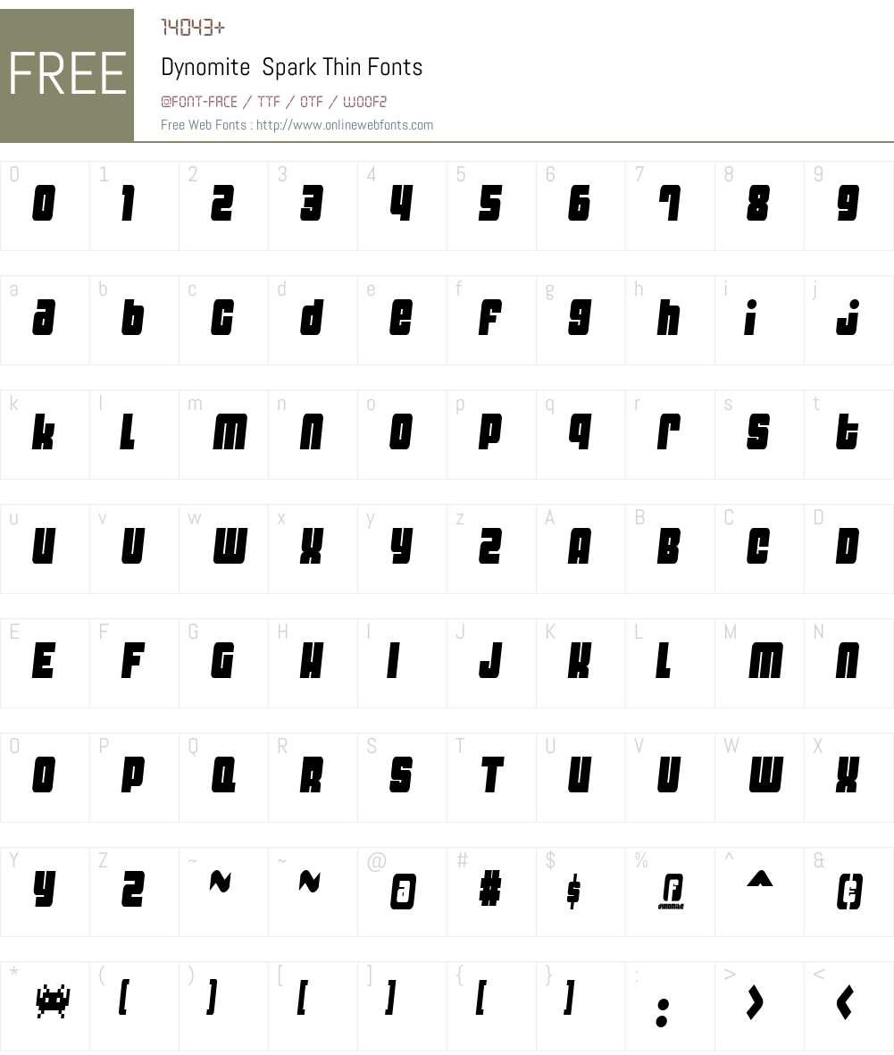 Dynomite Font Screenshots