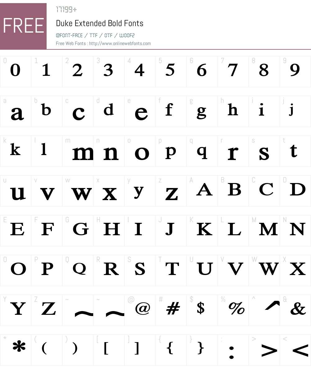 Duke Extended Font Screenshots