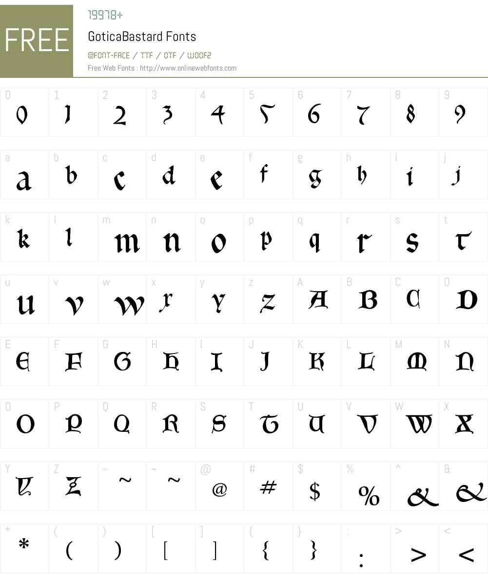 GoticaBastard Font Screenshots