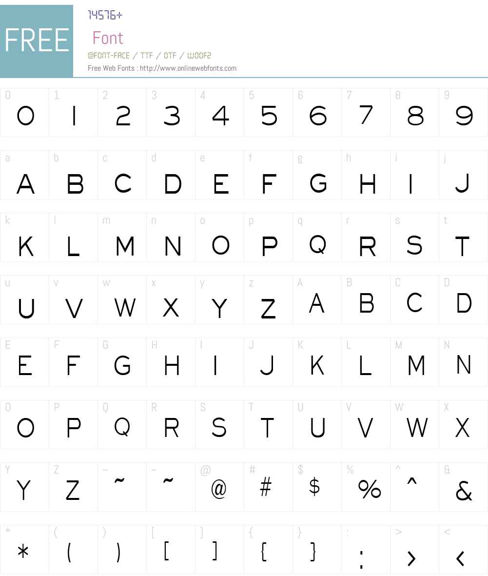 EyechartCondensed Font Screenshots