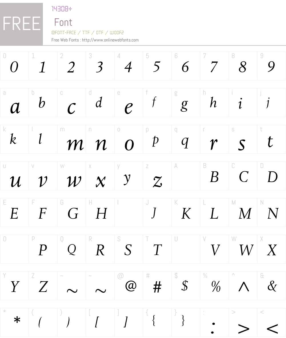 LeightonLightItalic Font Screenshots