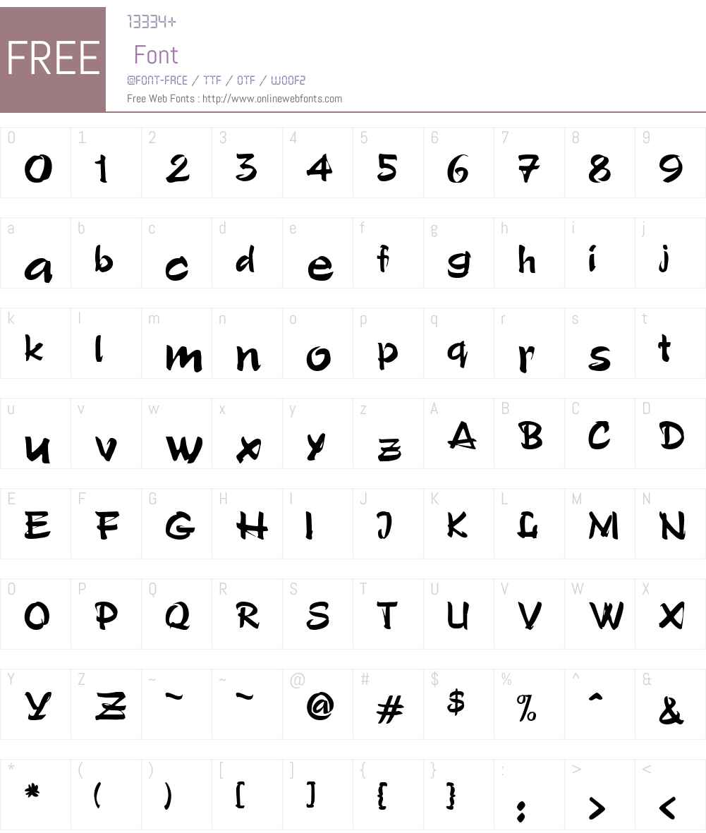 PoloW00-Regular Font Screenshots
