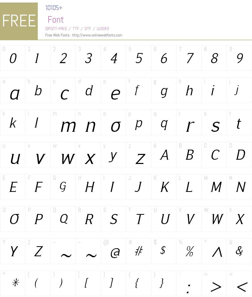 Ideologica Font Screenshots