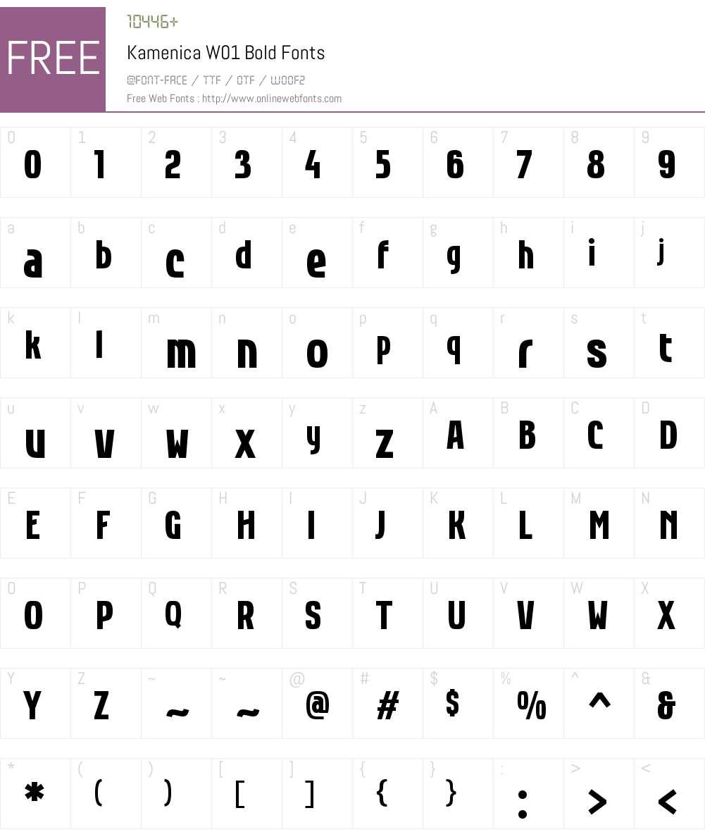 KamenicaW01-Bold Font Screenshots