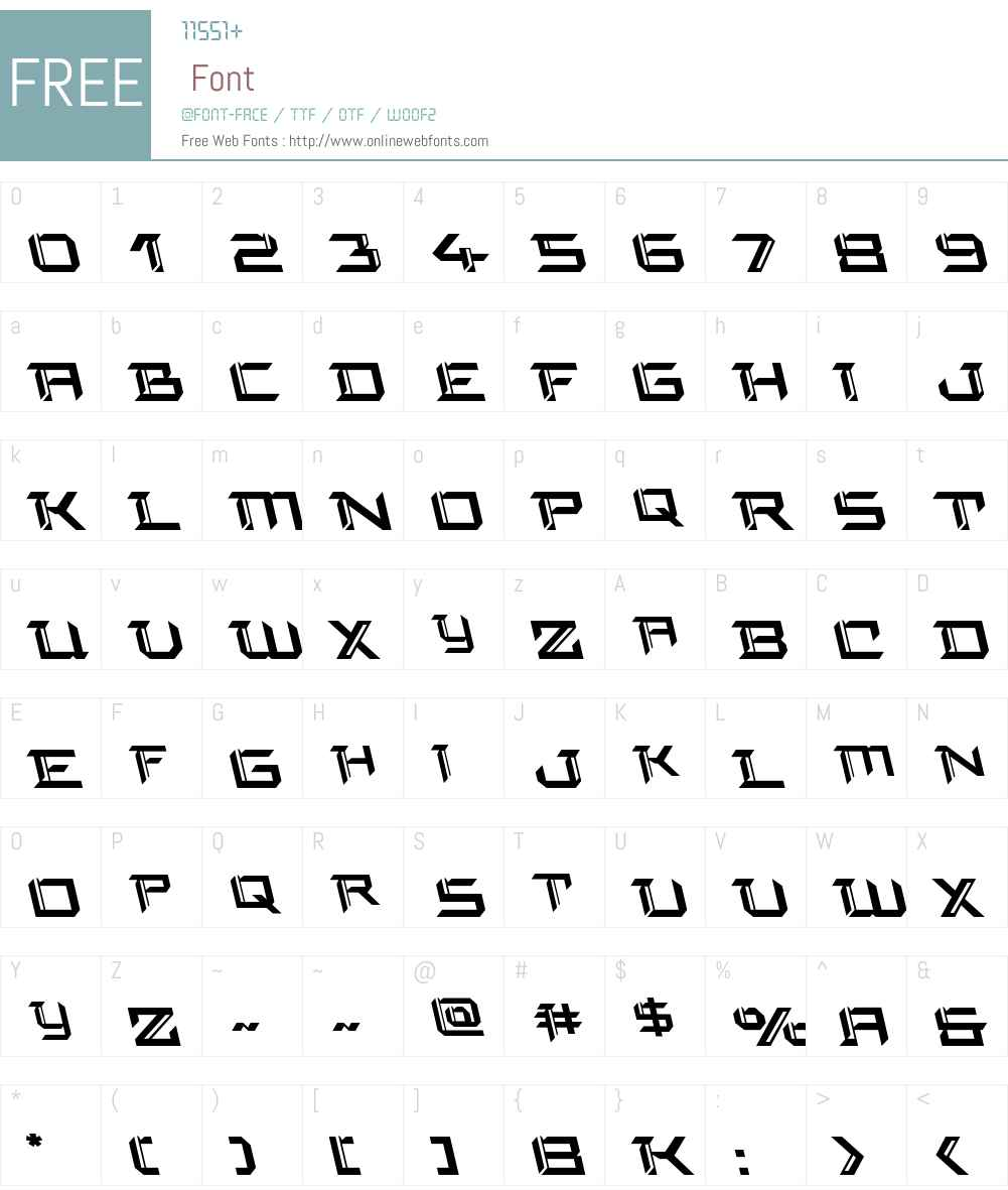 Final Front Leftalic Font Screenshots