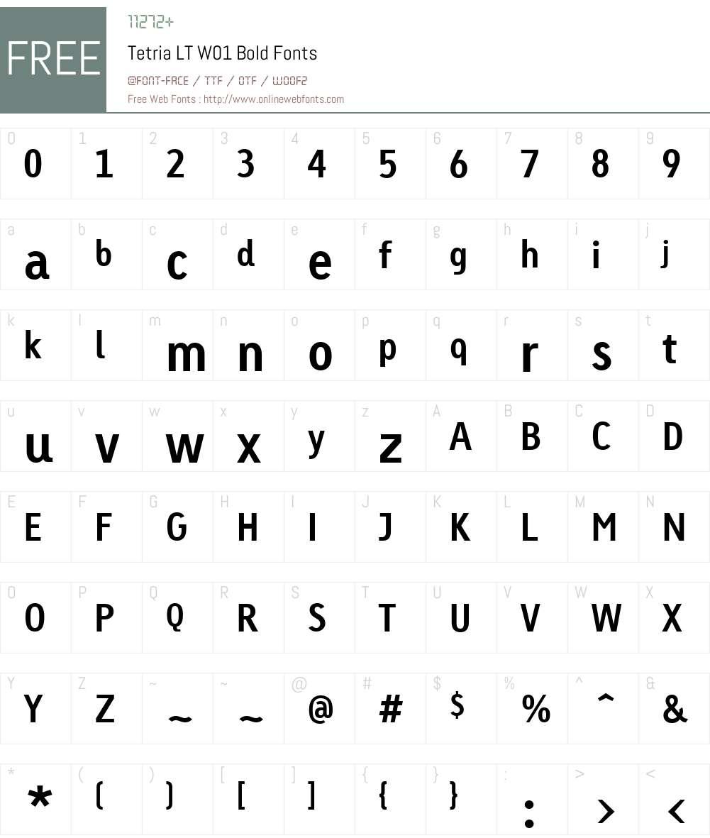 TetriaLTW01-Bold Font Screenshots